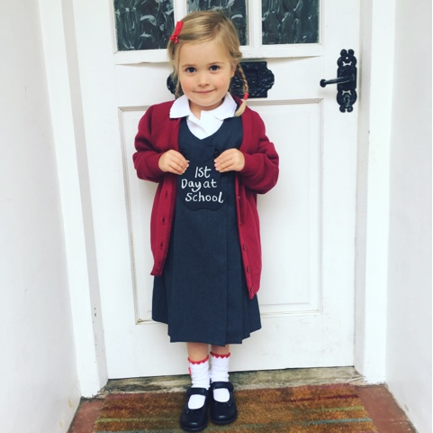 Ellie first day of school