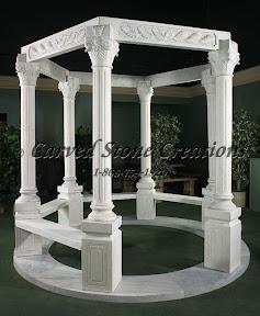 carved stone, Column, Exterior, Gazebo, Gazebos, Ideas, Landscape Decor