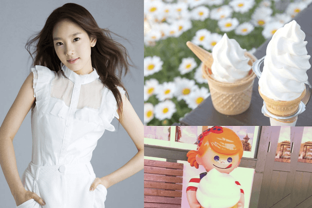 ソフトクリームと少女時代テヨンの可愛い組合わせ画像