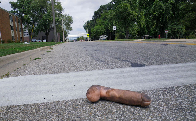 Dildo found in street one August afternoon