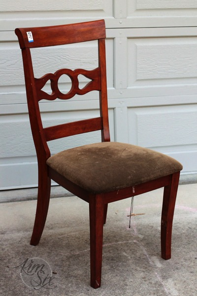 Thrift store desk chair before makeover