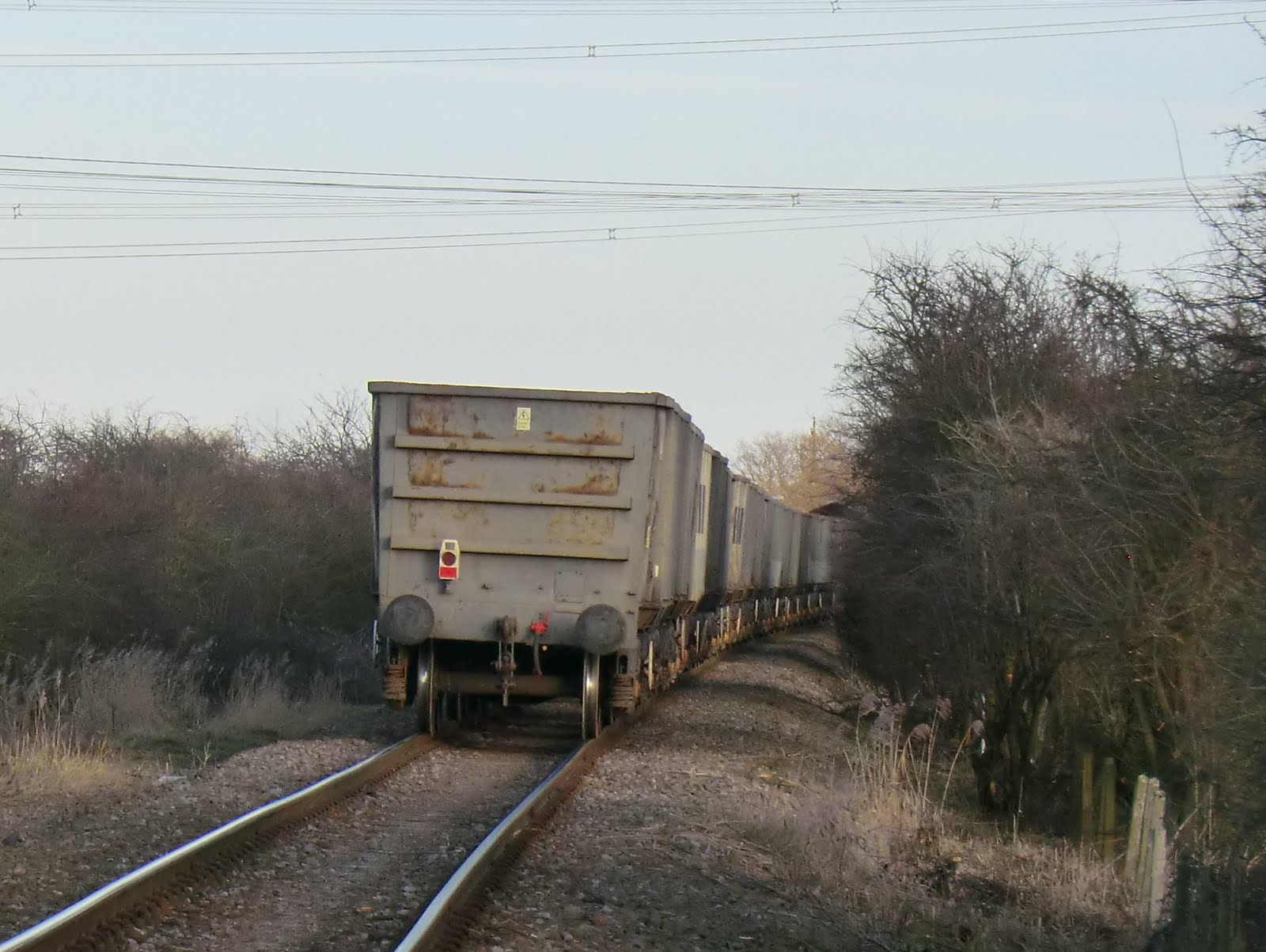 CIMG6643 A freight train on its way to the Isle of Grain