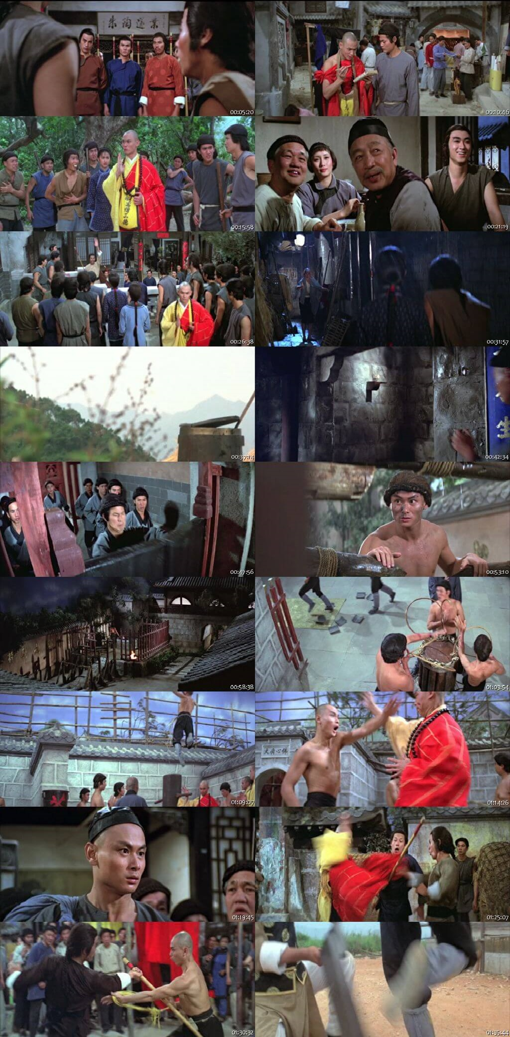 Screen Shot Of Return to the 36th Chamber 1980 300MB Full Movie Hindi Dubbed Free Download 480P BRRip Small Size PC Movie