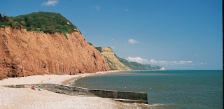 Jurassic Coast as photographed from Sidmouth Esplanade