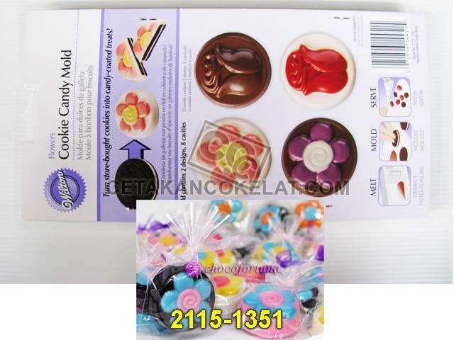 cetakan coklat cokelat wilton 2115-1351 Flowers Oreo