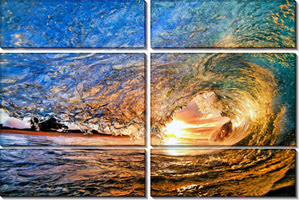 модульные картины закат