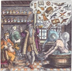 Emblem Lxv The Doctor Of Fools From Johann Theodor De Bry, Alchemical And Hermetic Emblems 2