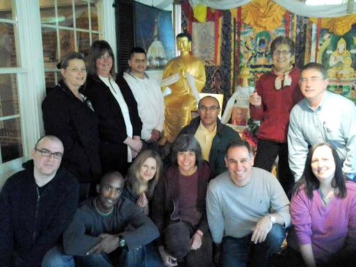 Maitreya Statue at Guhyasamaja Center, Virginia, USA, April 2012