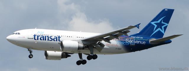En Airbus A310 - Ikke tit man ser dem :)