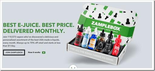 Zampletop thumb%25255B3%25255D - 【海外】いまさら聞けない海外でのお買い物~Zample Boxで定期購入してUSプレミアムリキッドを割安で入手!【最大70%オフ/リキッド選択可能】