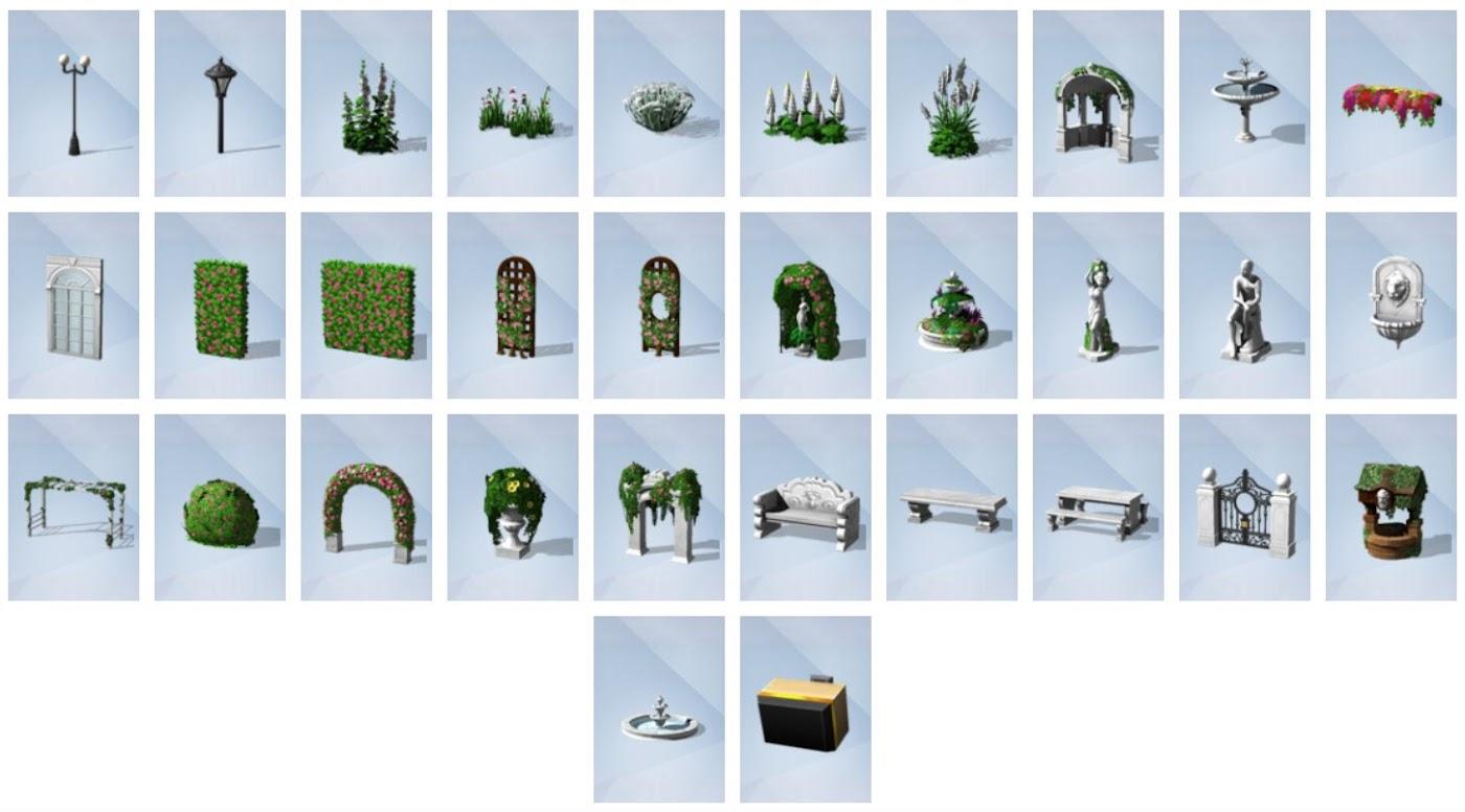 De sims 4 romantische tuinaccessoires review pingu ntech for Sims 4 jardin romantico
