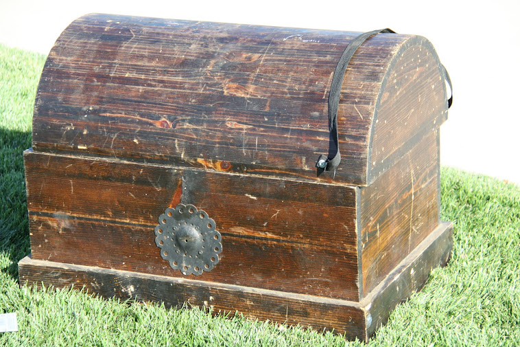 Wooden Treasure Chest - $8.00