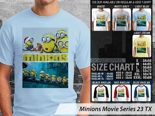 Kaos Kartun Minions Movie Series 23 distro ocean seven