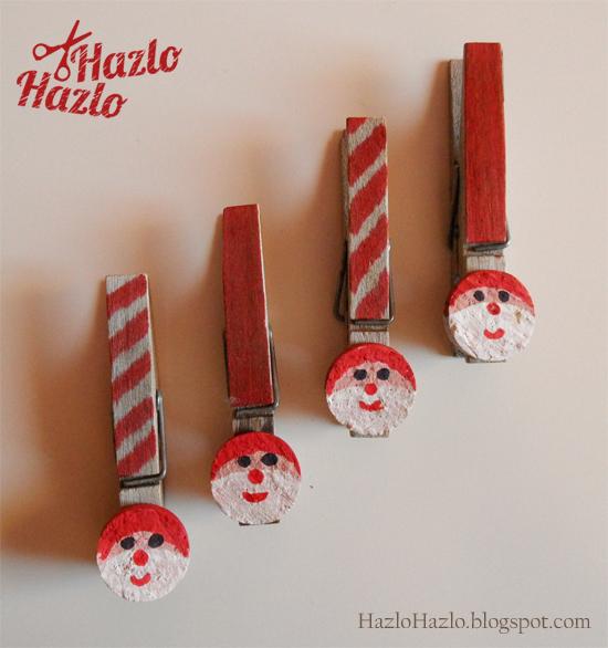 Decorar pinzas para Navidad.