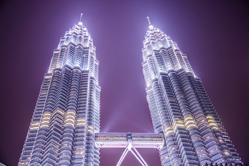 Twin Towers night view KLCC park3