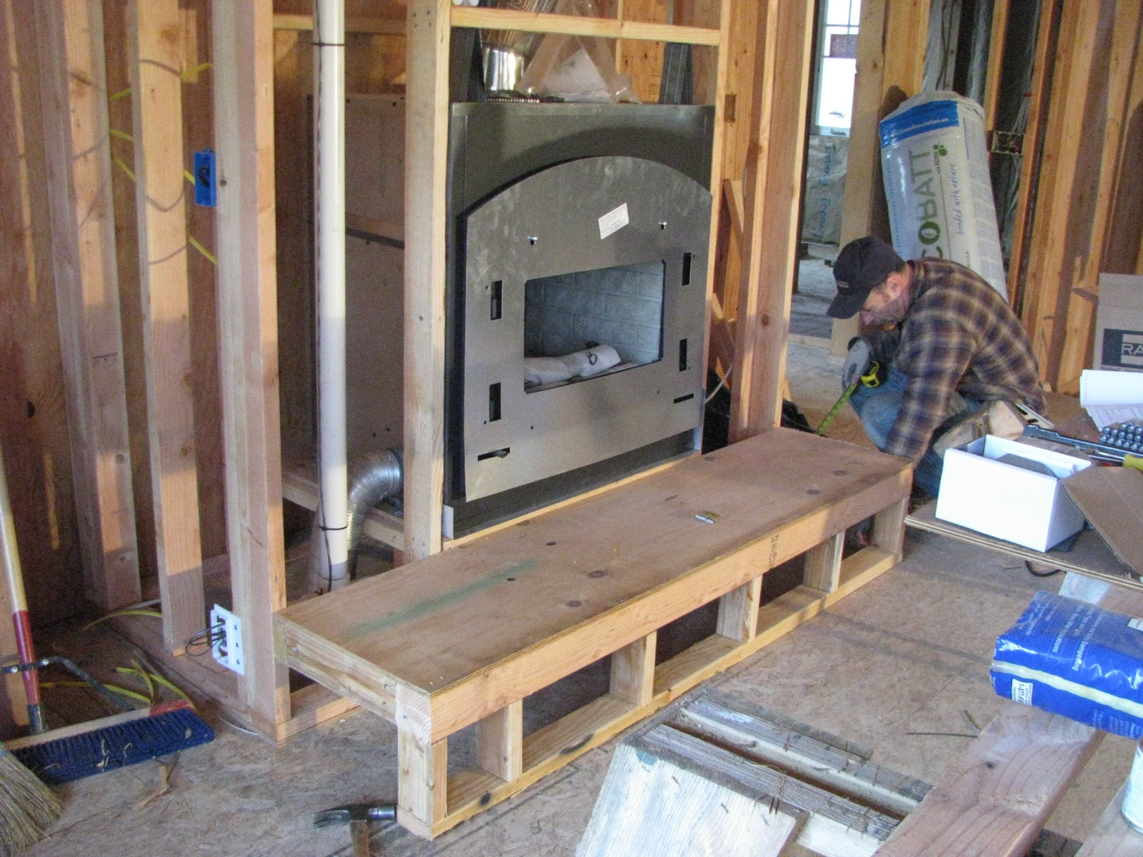 Picture Frame Fireplace Hearth framing a fireplace mantel and ...