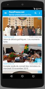 Burkina : Actu du Faso - náhled