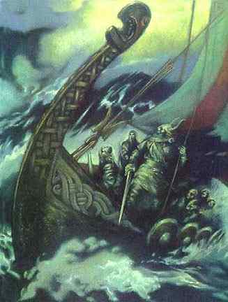Loki And The Ship Nagalfar, Asatru Gods And Heroes