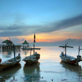 morning boat by Erwan Xu - Transportation Boats