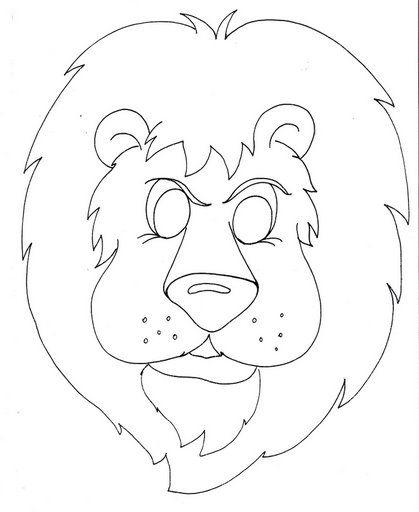Máscara de león para colorear