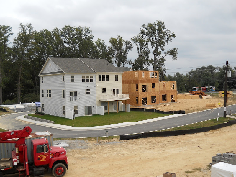 New townhouses going up. The houses to the left are occupied already.