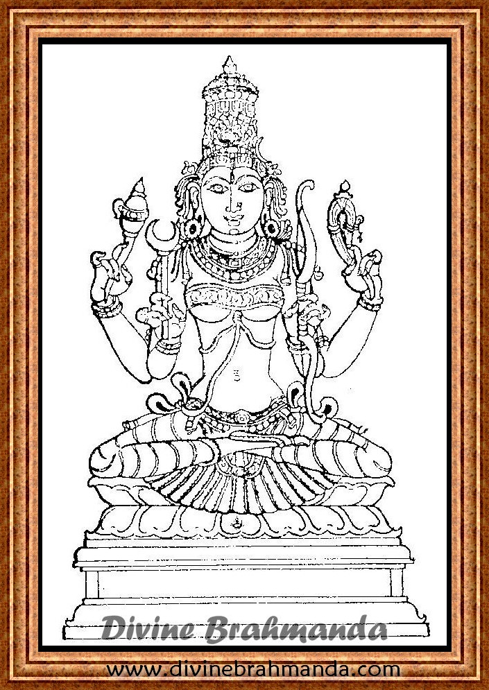 Soundarya Lahari Sloka, Yantra & Goddess For Attainment Of Fame - 74
