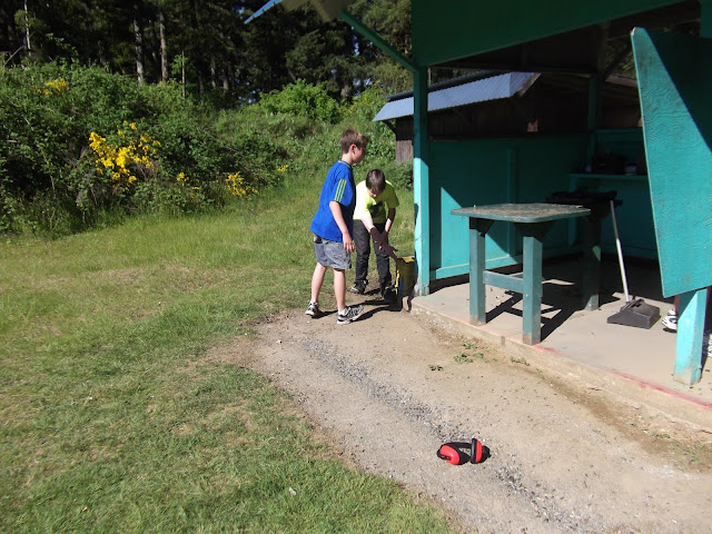 Shooting over.  Now to help the range master cleanup brass.