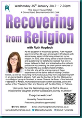 Recovering from Religion 25 January 2017