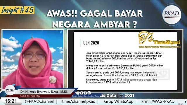 Anggota Komisi XI DPR RI: Ada Kenaikan ULN Indonesia Sebesar 14,4 Miliar Dolar