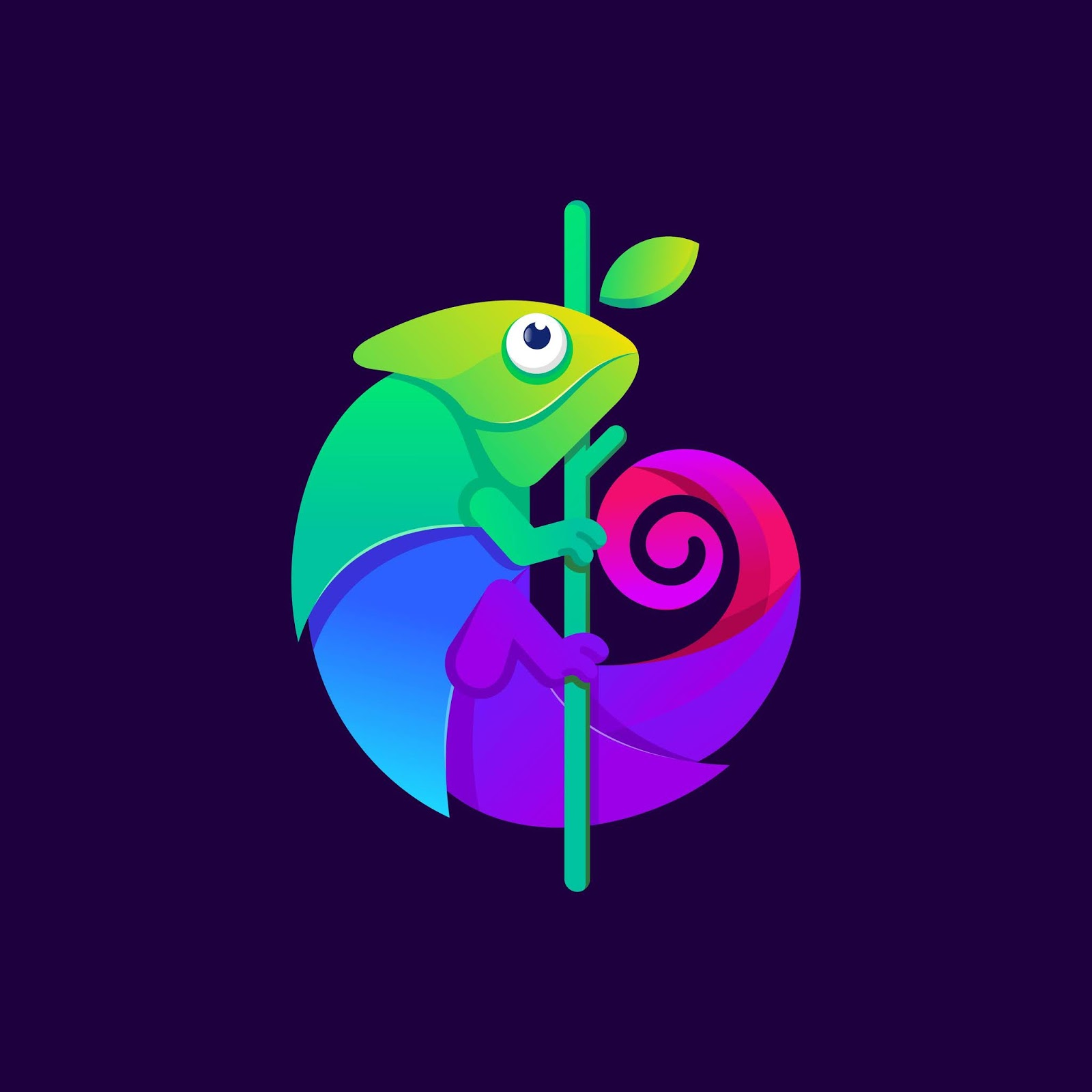 Colorful Chameleon Logo Design Illustration.jpg Free Download Vector CDR, AI, EPS and PNG Formats