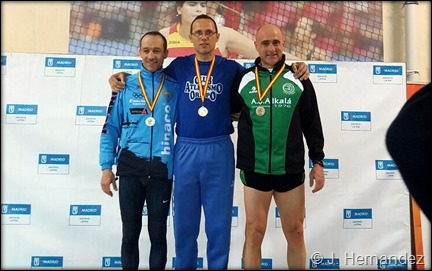 Podium Cto de España Veterano PC 2017 (Madrid)