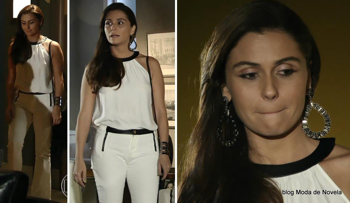 moda da novela Em Família - look da Clara dia 17 de junho