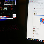 having a good laugh at the US elections while watching LIVE in Toronto, Ontario, Canada