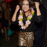 WWW.ENTSIMAGES.COM -    Louise Thompson   attending the re-launch of Trader Vic's  at Trader Vic's, Hilton Park Lane, London October 3rd 2013                                             Photo Mobis Photos/OIC 0203 174 1069