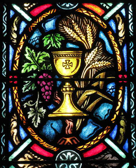 Sacrament of Holy Communion, Stained Glass of St. Paul Ev. Lutheran Church, Newark, OH