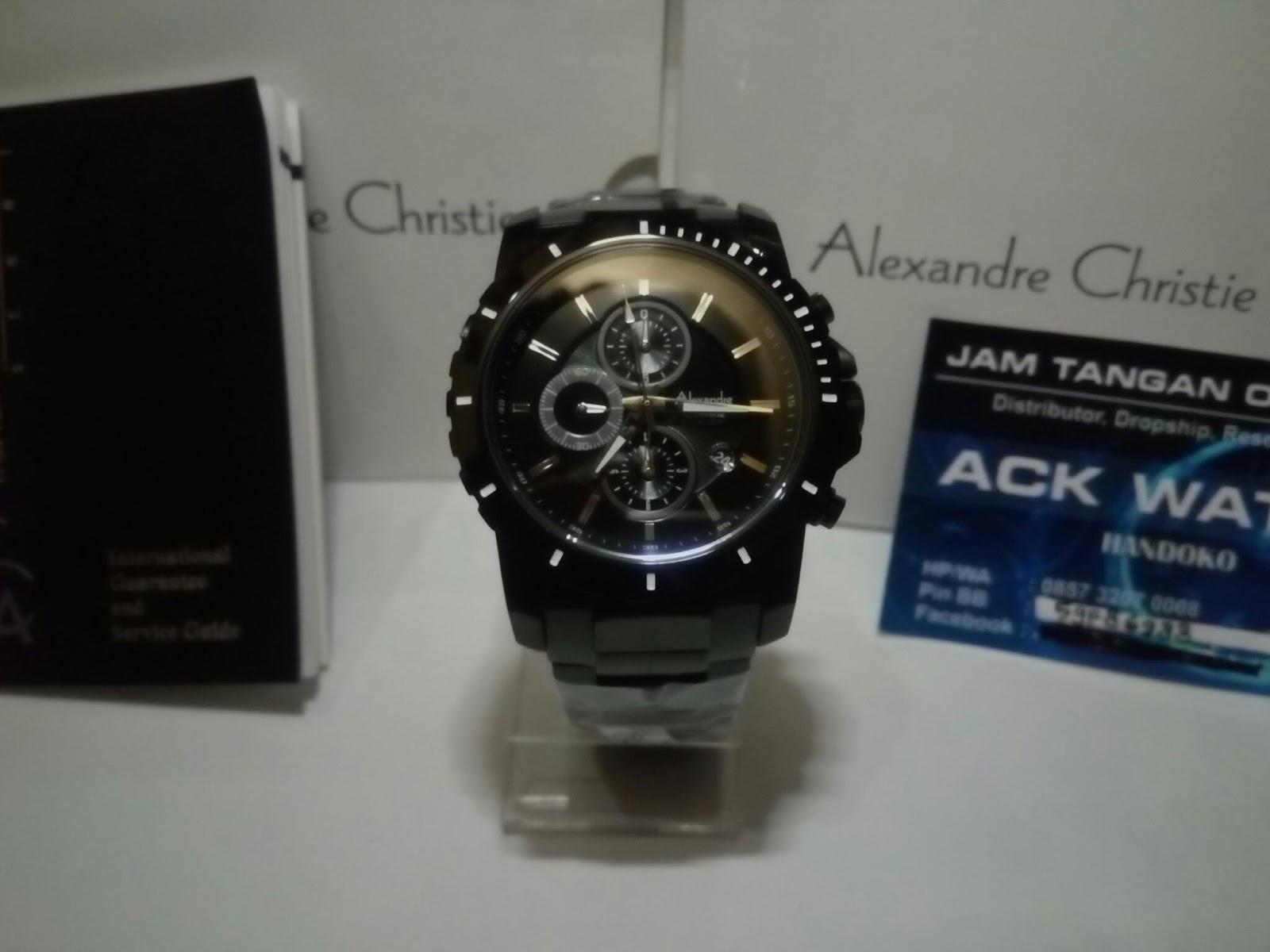 Alexandre Christie 2017 6141 Mc Full Black Original Ac 6141mc Jam Box Asli Buku Garansi Resmi 1 Tahun