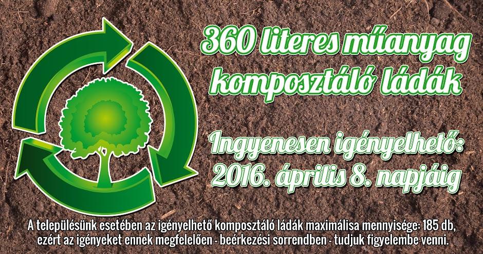 Ingyenes házi komposztálóládák 2016 Bárdudvarnokon