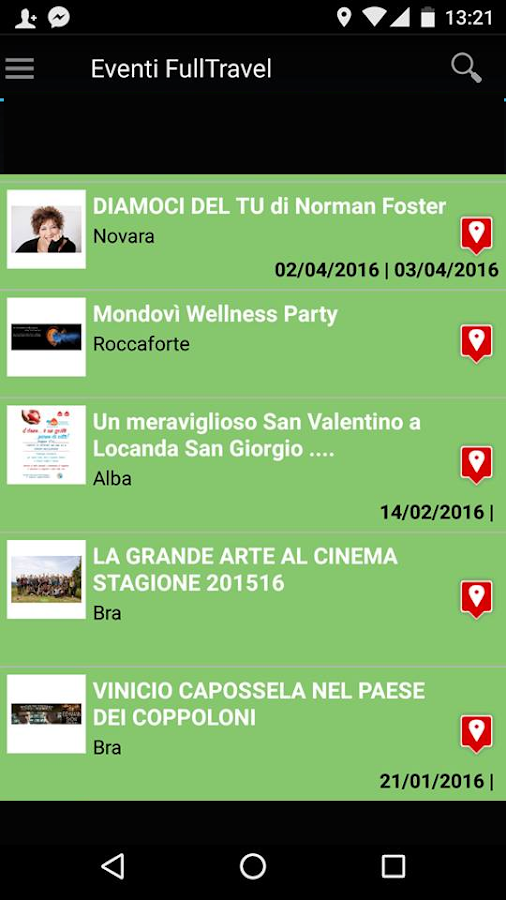 Eventi FullTravel- screenshot