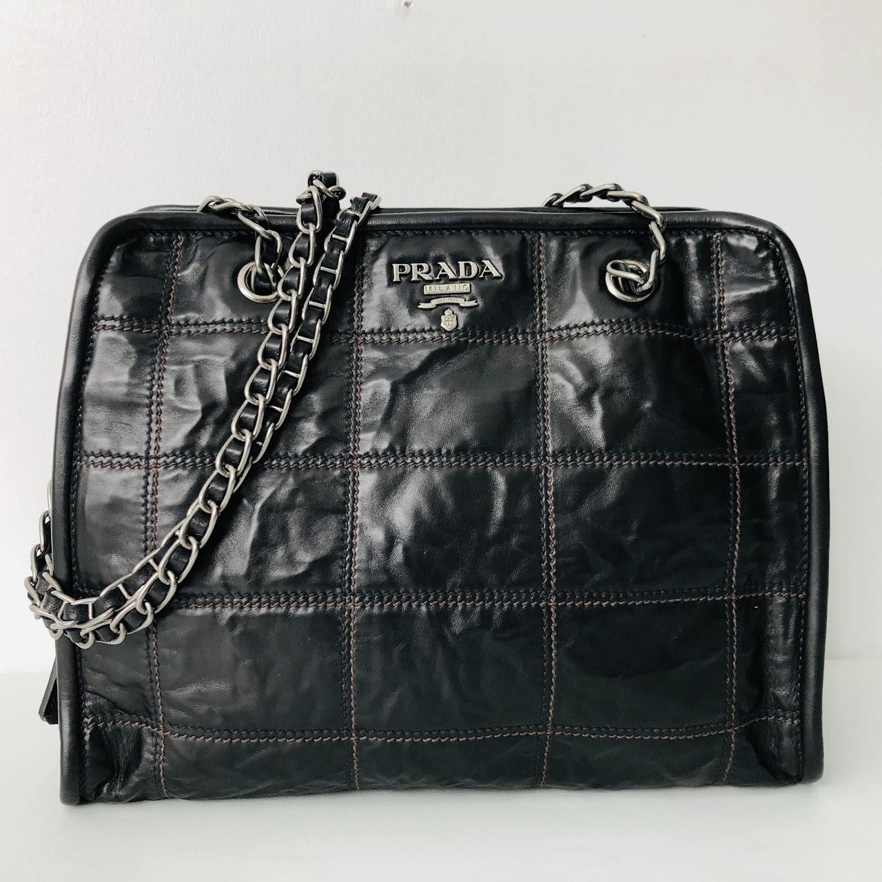 f81c9befad5e Prada Quilted Leather Shoulder Bag | Shophousingworks