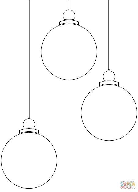 Click The Christmas Ornaments Coloring Pages To
