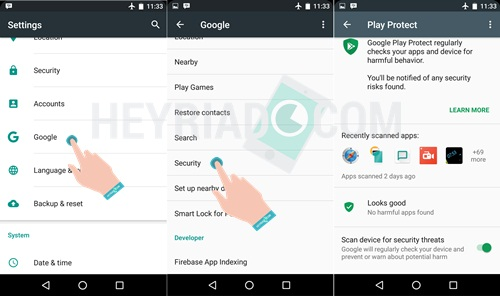 di semua hp Android semoga smartphone semakin kondusif 2 Cara Mengaktifkan Google Play Protect di Android