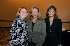 Rebecca Rhule, Our Friends Place (nominator of CREW Dallas); Leigh Richter, CREW Dallas, and Marti Nemer, president of CREW Dallas, (Outstanding Philanthropic Organization)