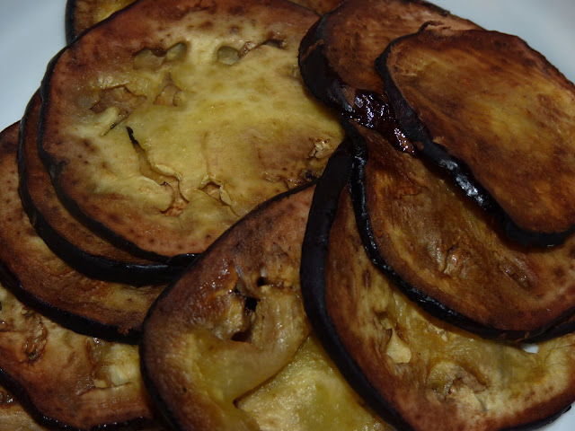 Browned eggplant