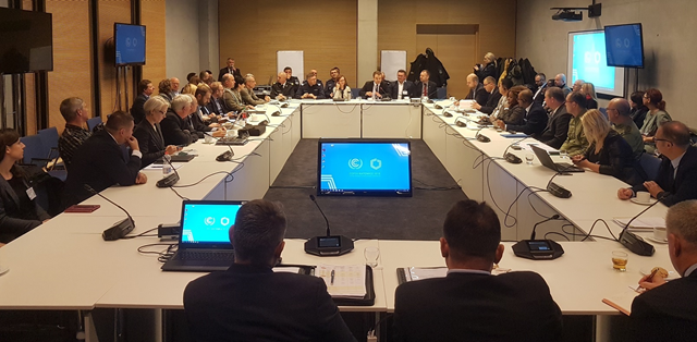 On 24 November 2018, the last in a cycle interministerial meetings of the COP24 conference organization team was held at the International Congress Centre in Katowice. The meeting was attended by Minister's Plenipotentiary for the Organisation of COP24, Rafał Bochenek, as well as other representatives of government departments and Śląskie Voivodship self-government. The dedicated team worked for 9 months, coordinating actions connected with preparing and conducting 24th session of the biggest global UN conference, concerning climate politics. Photo: UN / COP24