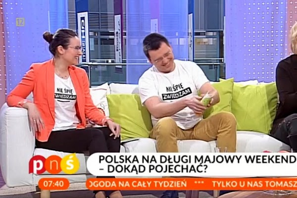 Kasia i Maciej Marczewscy w TV o polskiej turystyce
