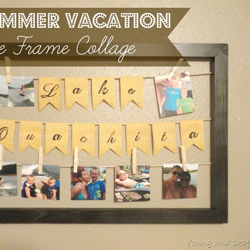 DIY Summer Vacation Picture Frame Collage and GIVEAWAY ($200 Home Depot Gift Card)