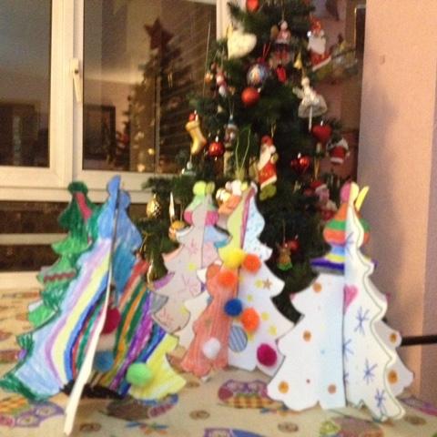 Manualidades niños creatividad navidad
