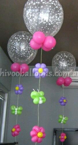 M s y m s manualidades hermosas decoraciones con globos for Decoracion para comercios