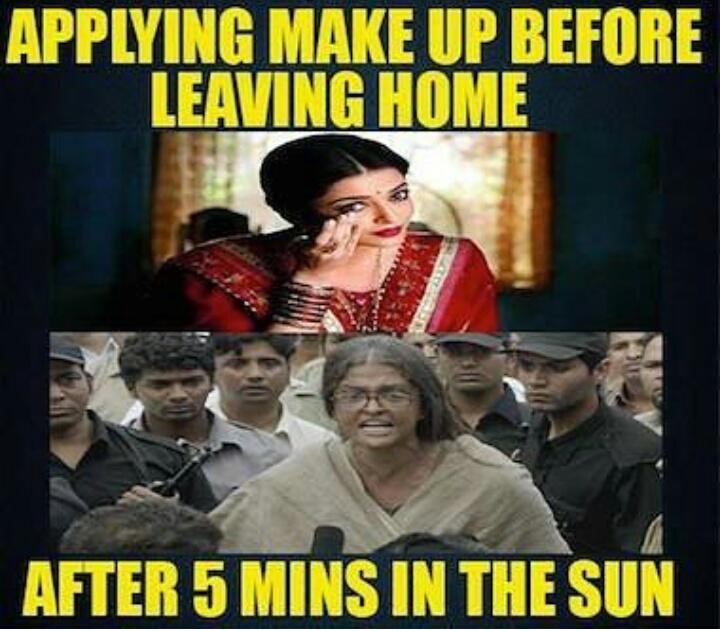 whatsApp Shutiyapa: Makeup before and after