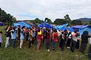 HUT RI Ke 75, Merah Putih Tetap Berkibar Ditengah Pengungsi Banjir Bandang Desa Maipi Masamba